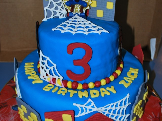 3Rd Birthday Cake Spiderman 3rd Birthday Cake Cakecentral