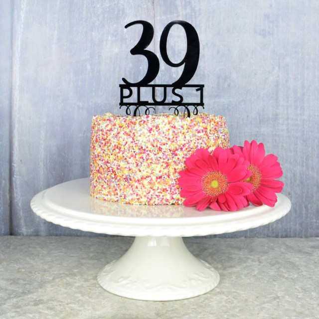 40Th Birthday Cakes 40th Birthday Cake Topper Pink And Turquoise Notonthehighstreet