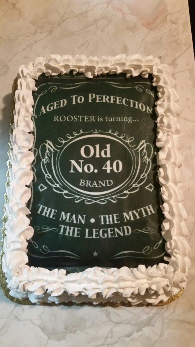 40Th Birthday Cakes 40th Birthday Cakedesigned After Jack Daniels For The Man The