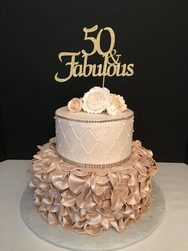 50 Birthday Cakes Any Number Gold Glitter 50th Birthday Cake Topper 50 And Fabulous