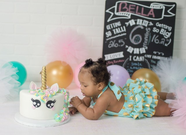 6 Month Birthday Cake Bellas 6 Month Cake Smash Supanik Photography