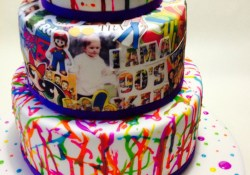 90S Birthday Cake 90s Themed 21st Birthday Cake 3 Tiered Mud Cake Covered In Fondant