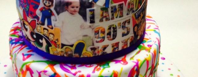 90S Birthday Cake 90s Themed 21st Birthday Cake 3 Tiered Mud Cake Covered In Fondant