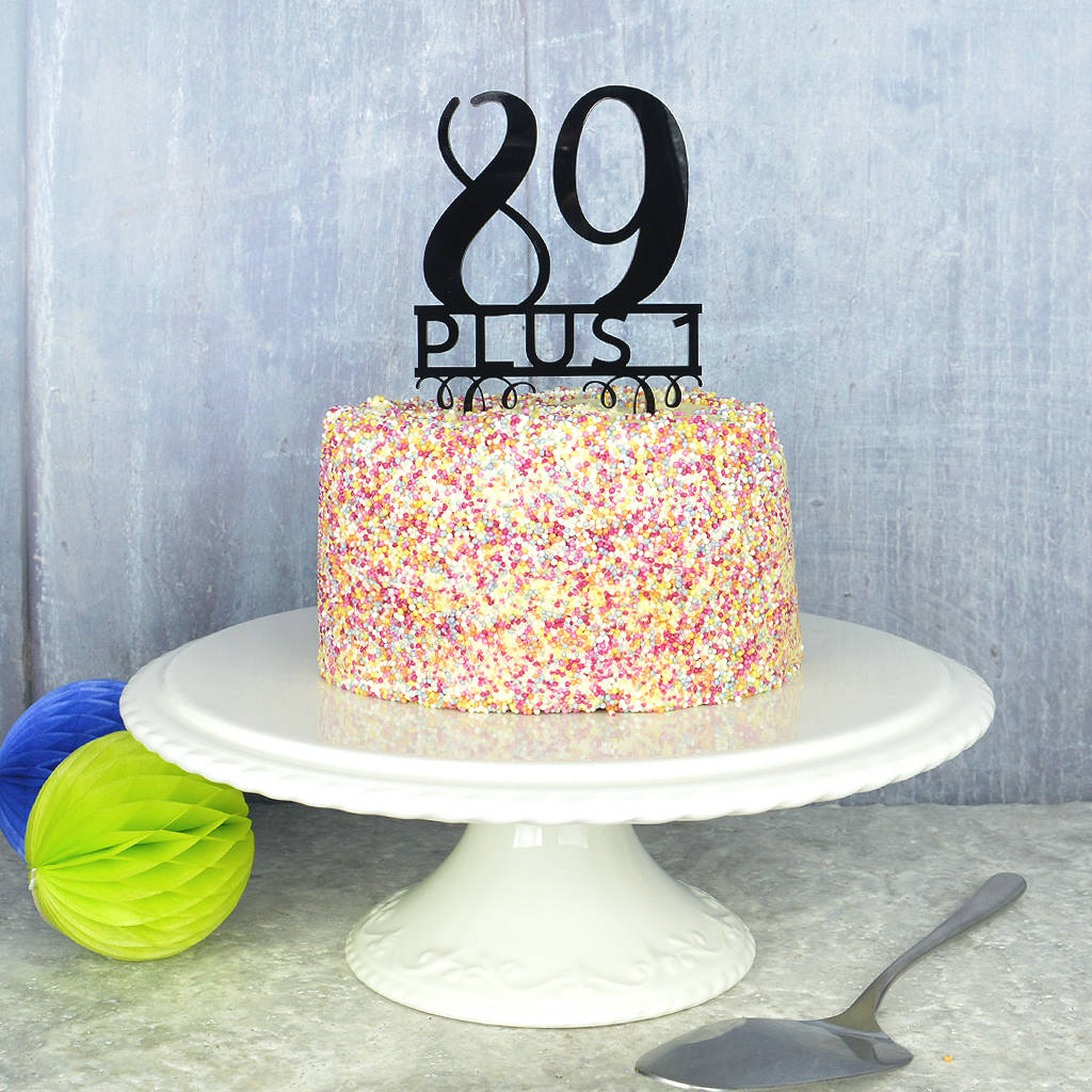 Cool 90Th Birthday Cakes 90Th Birthday Cake Topper Pink And Turquoise Personalised Birthday Cards Veneteletsinfo