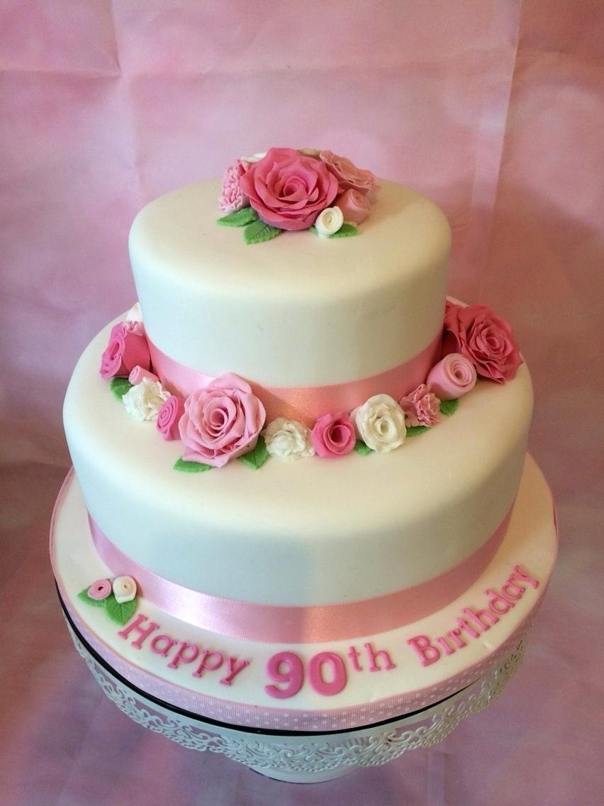 90Th Birthday Cakes 90th For Women Customer Support Service