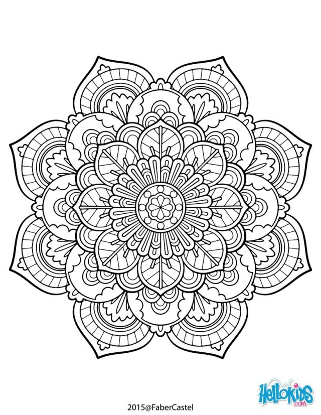 Adult Coloring Book Pages Mandala Vintage Coloring Pages Hellokids