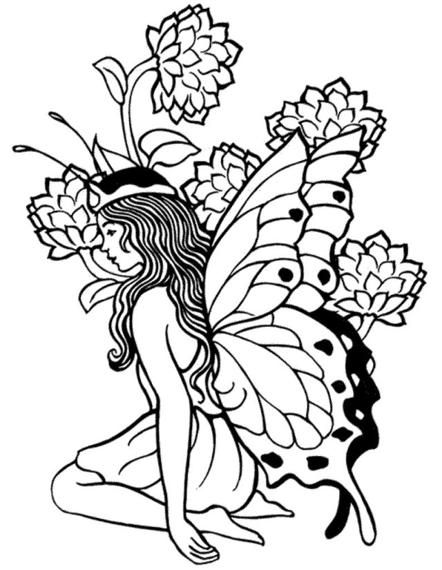 Adult Free Coloring Pages Coloring Pages Beautifull Fairy For Adults Free Printable Rallytv