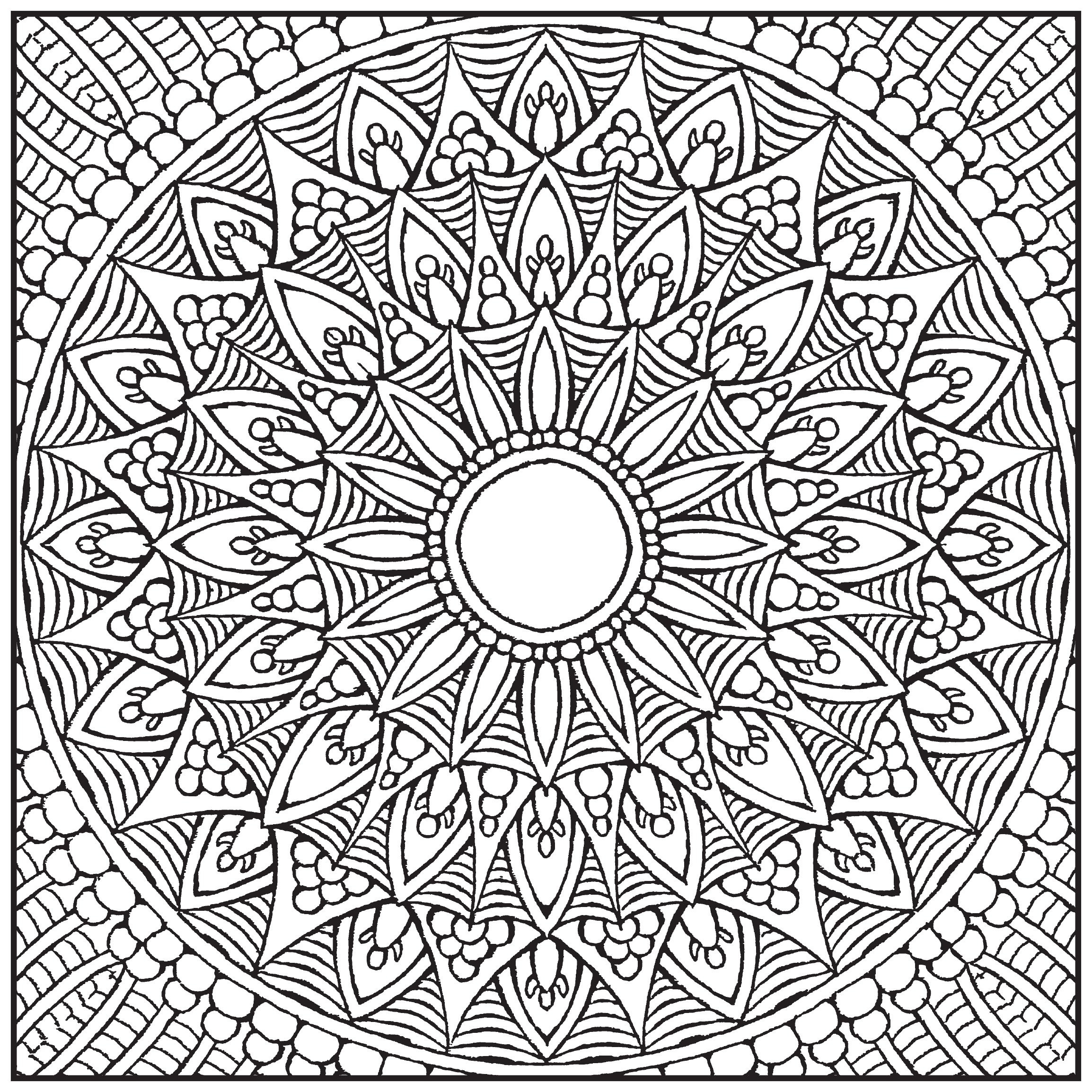 - Advanced Mandala Coloring Pages Arts Advanced Mandala Coloring