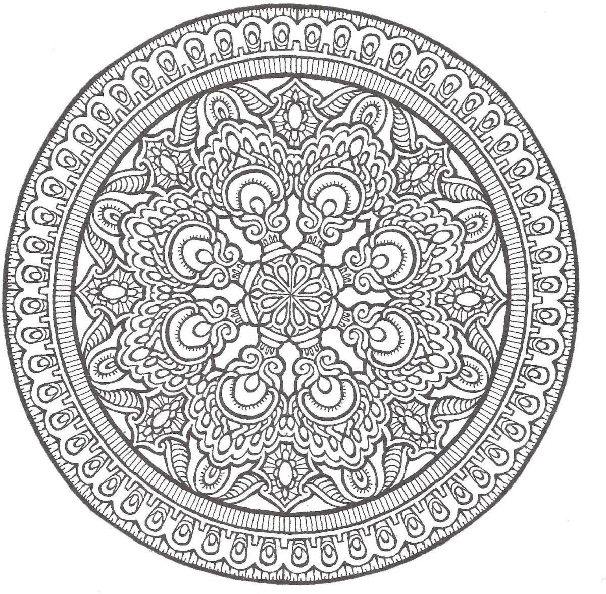 Advanced Mandala Coloring Pages Coloring Page 34 Advanced