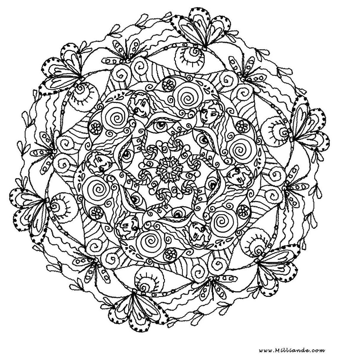 Advanced Mandala Coloring Pages Printable Mandala Coloring