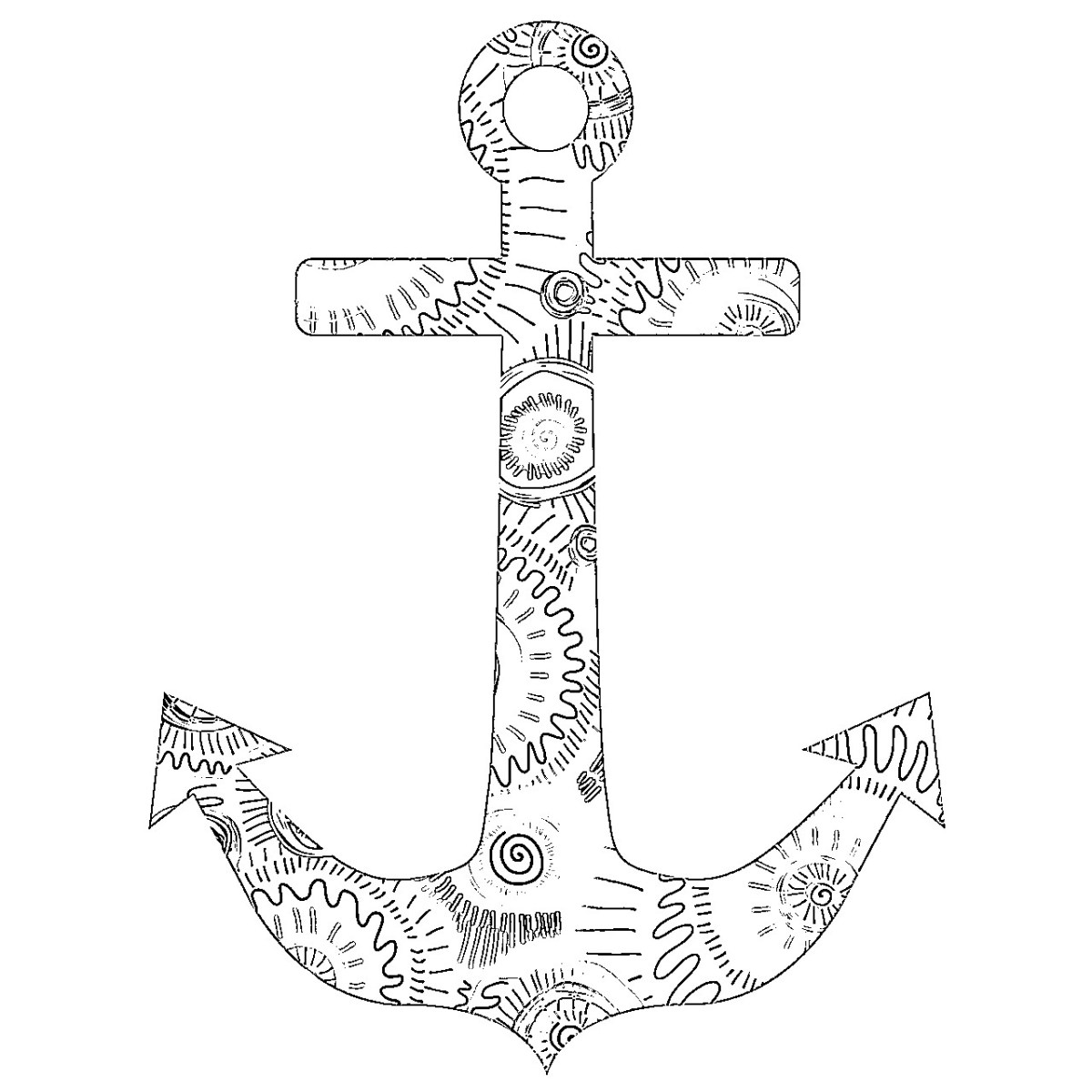 Anchor Coloring Page Adult Coloring Pages Anchor 3 Pinterest ...