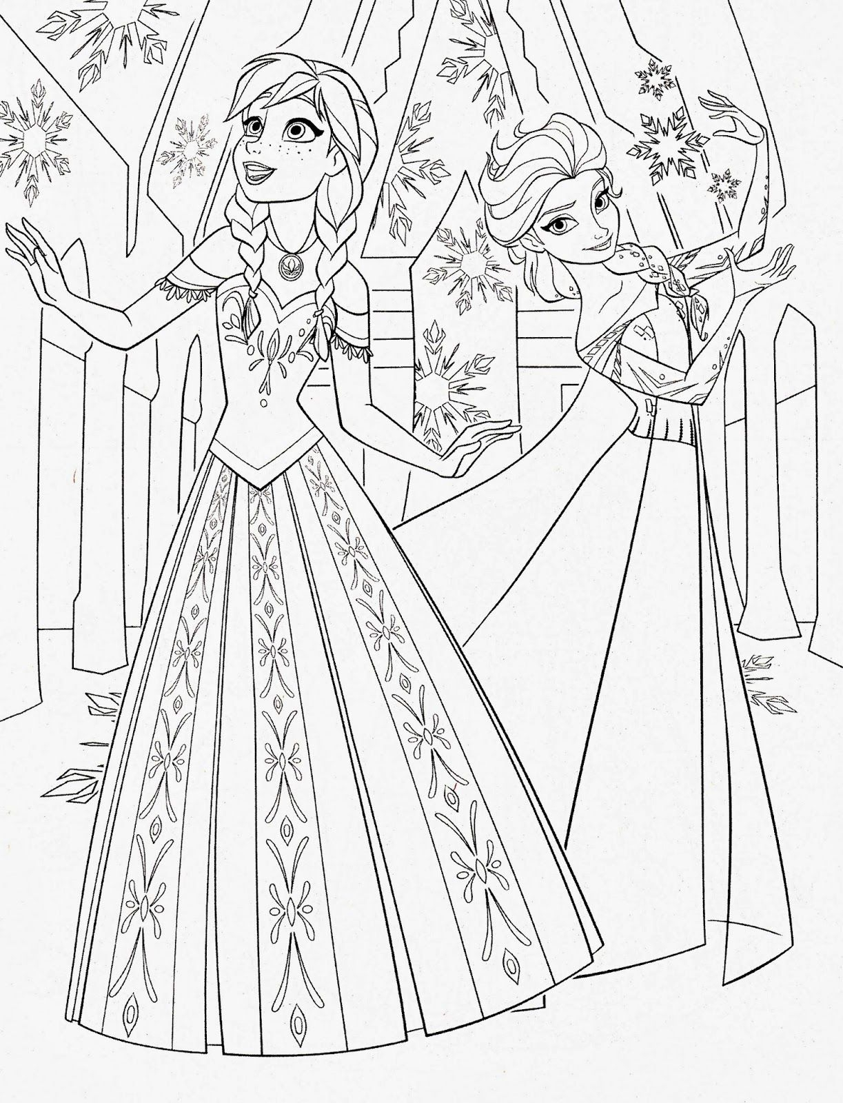 - Anna And Elsa Coloring Pages Disney Princess Coloring Pages Frozen