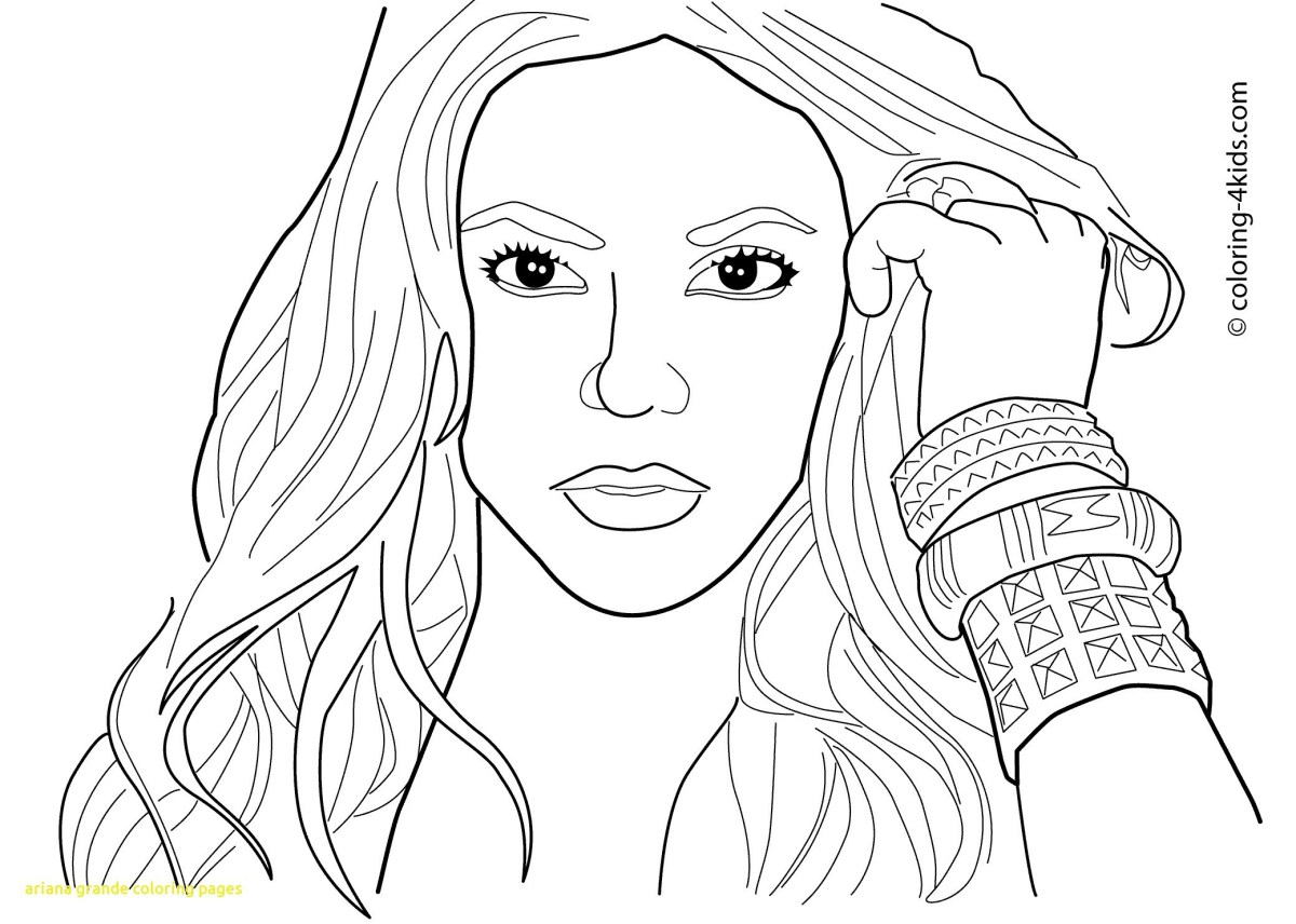 Ariana Grande Coloring Pages Ariana Grande Coloring Page Free Printable Pages In Dapmalaysia
