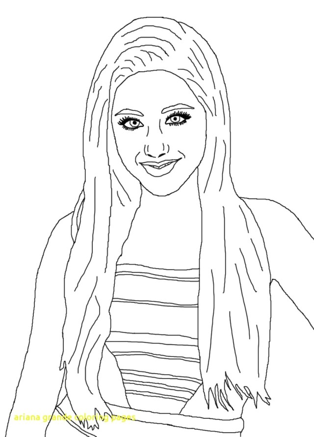 Ariana Grande Coloring Pages Ariana Grande Coloring Pages Bertmilne Me Mesmerizing Of