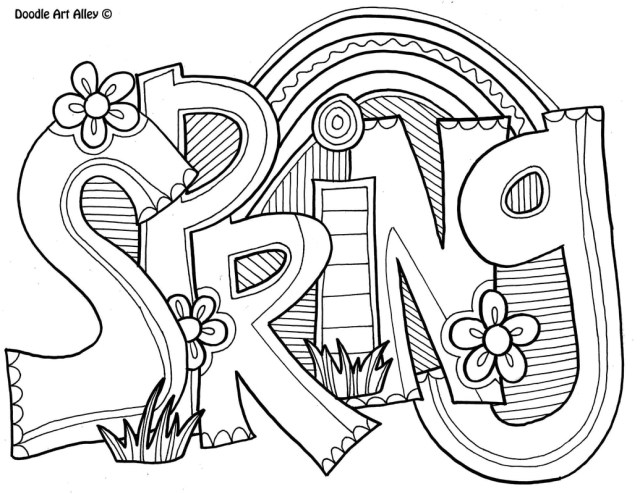 Art Coloring Pages Spring Coloring Pages Doodle Art Alley