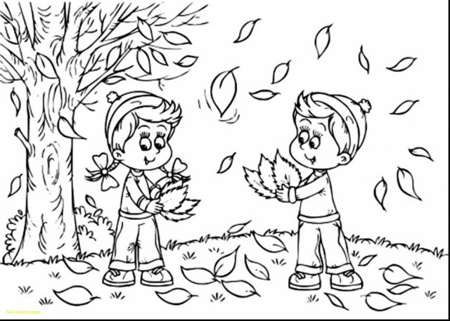 Autumn Coloring Pages Autumn Coloring Pages Printable Scene With Scarecrow Page Free For