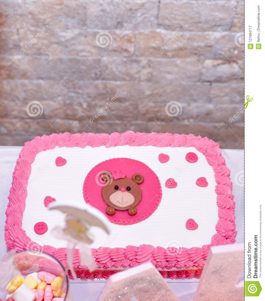 Fabulous Baby First Birthday Cake Ba Girl First Birthday Cake With Teddy Personalised Birthday Cards Veneteletsinfo