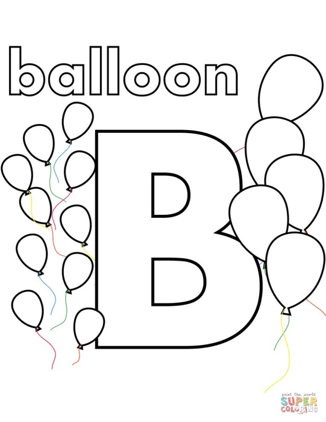 Balloon Coloring Pages B Is For Balloon Coloring Page 13 B Colouring Pages Taobaodian