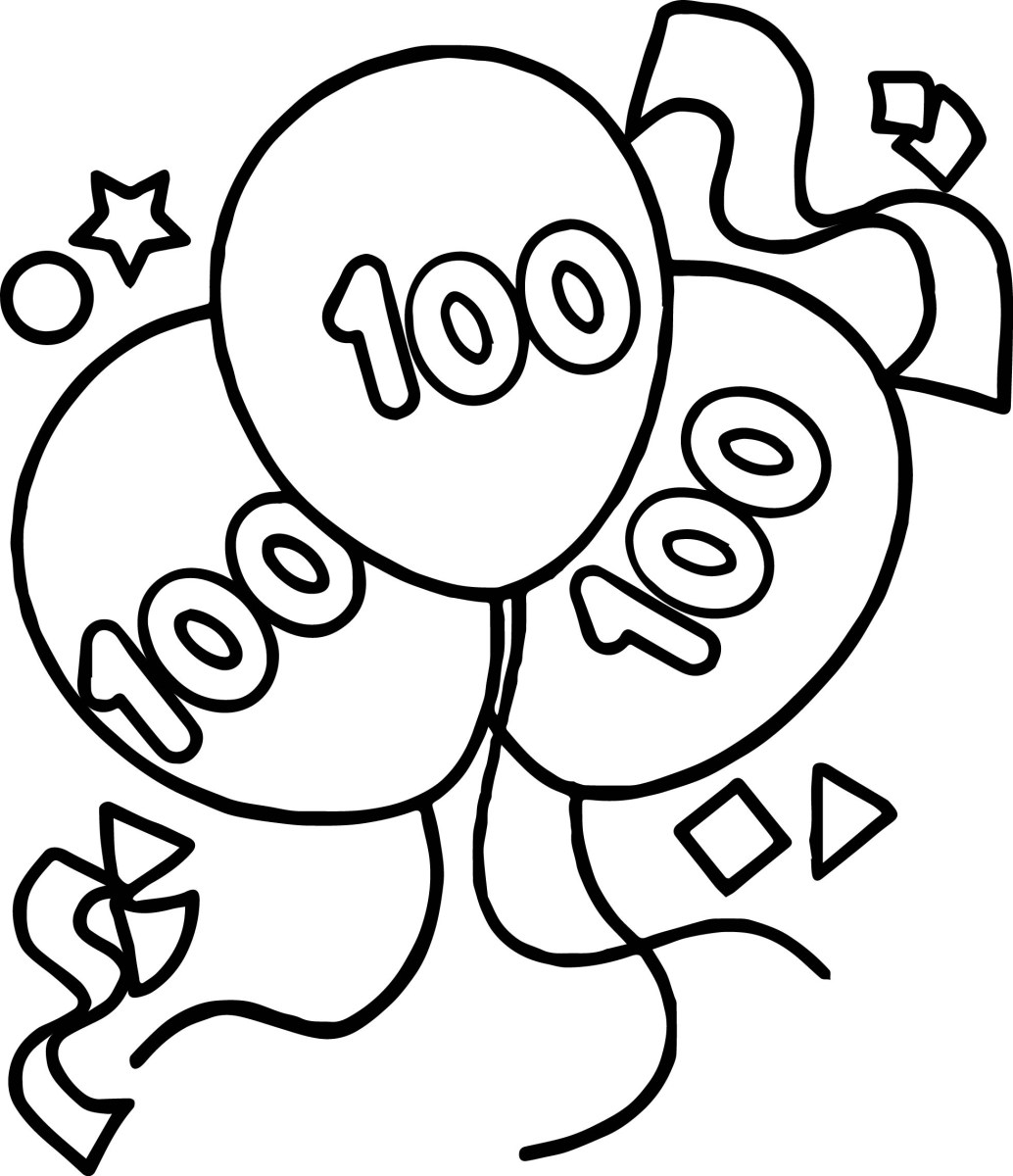 Balloon Coloring Pages Coloring Pages Number And Birthday Balloons Coloring Page For Kids