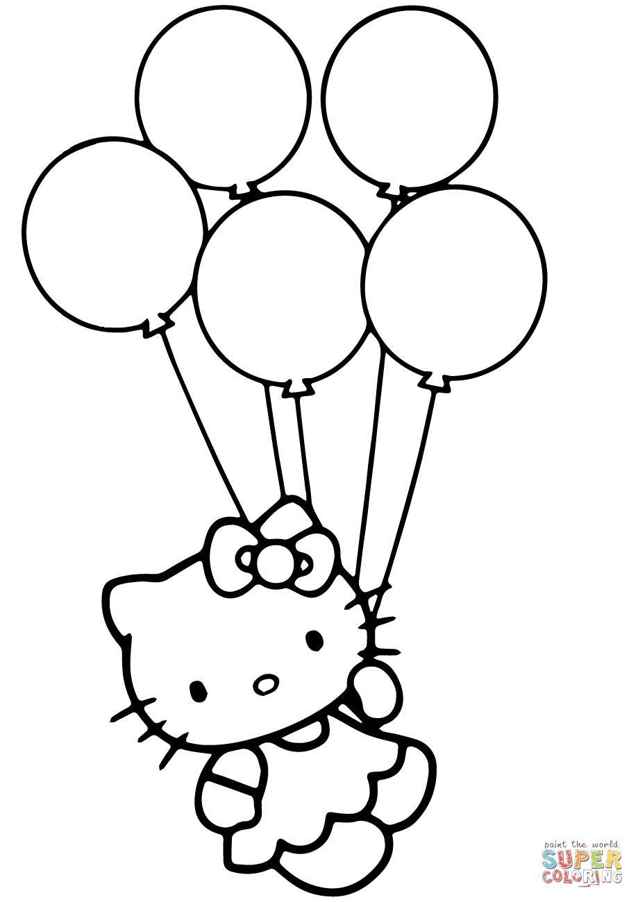 Kleurplaat Nijntje Met Ballon 23 Pretty Picture Of Balloon Coloring Pages Birijus Com