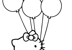 Balloon Coloring Pages Hello Kitty With Balloons Coloring Page Free Printable Coloring Pages