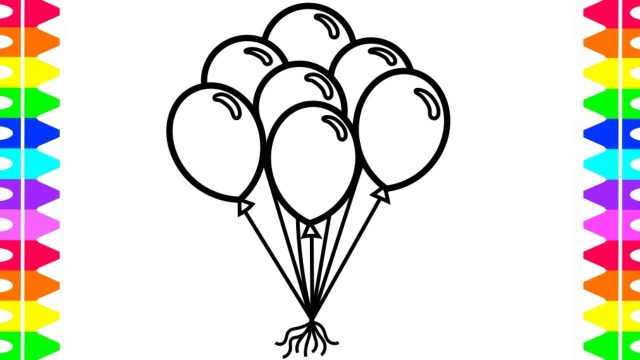 Balloon Coloring Pages Learn How To Draw And Color Balloons Coloring Pages For Kids Colors