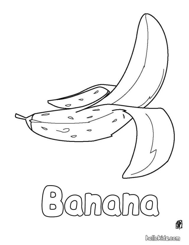 Banana Coloring Page 15 Unique Banana Pictures To Color Karen Coloring Page