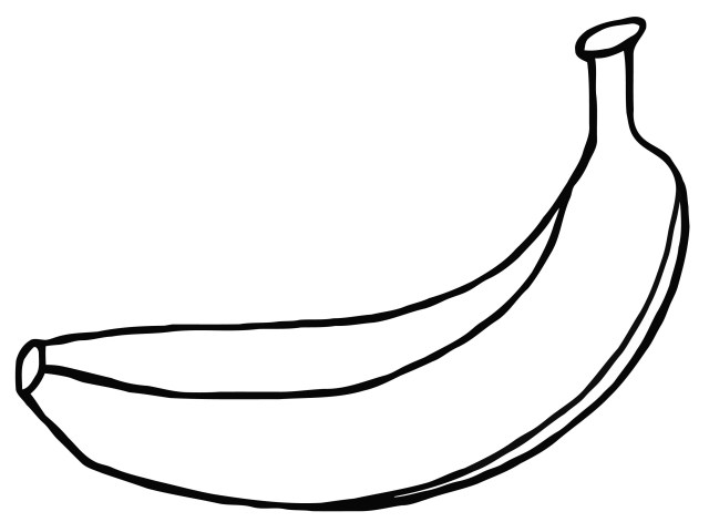 Banana Coloring Page How To Draw Banana Coloring Page Online At Coloring Page