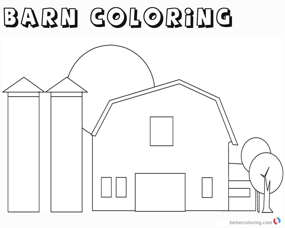 Custom Horse Barn Coloring Page - Free Barn Coloring Pages ... | 800x1000