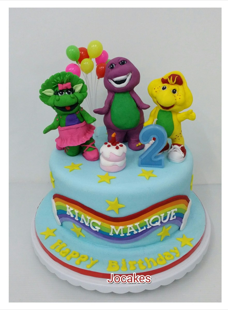 Peachy Barney Birthday Cake Barney And Friends Cakes Jocakes Birijus Com Funny Birthday Cards Online Necthendildamsfinfo