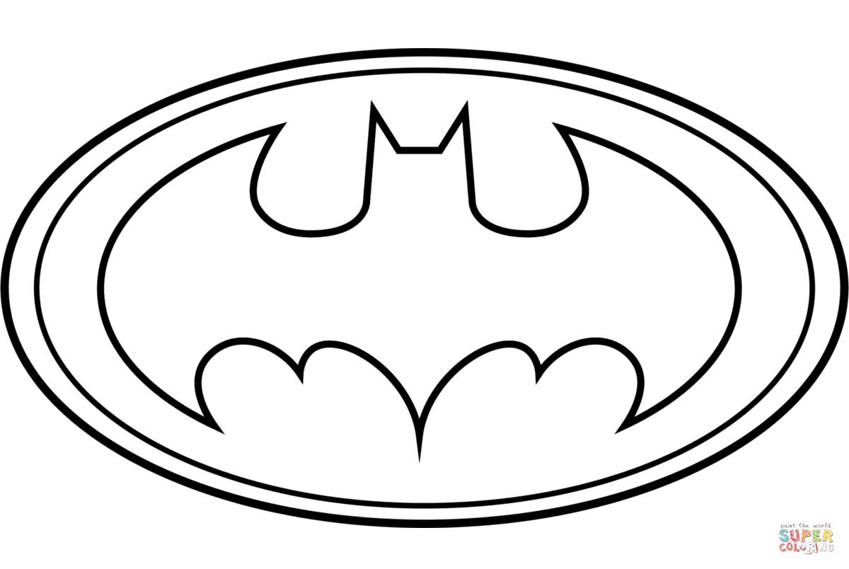 - Batman Coloring Page Batman Logo Coloring Page Free Printable