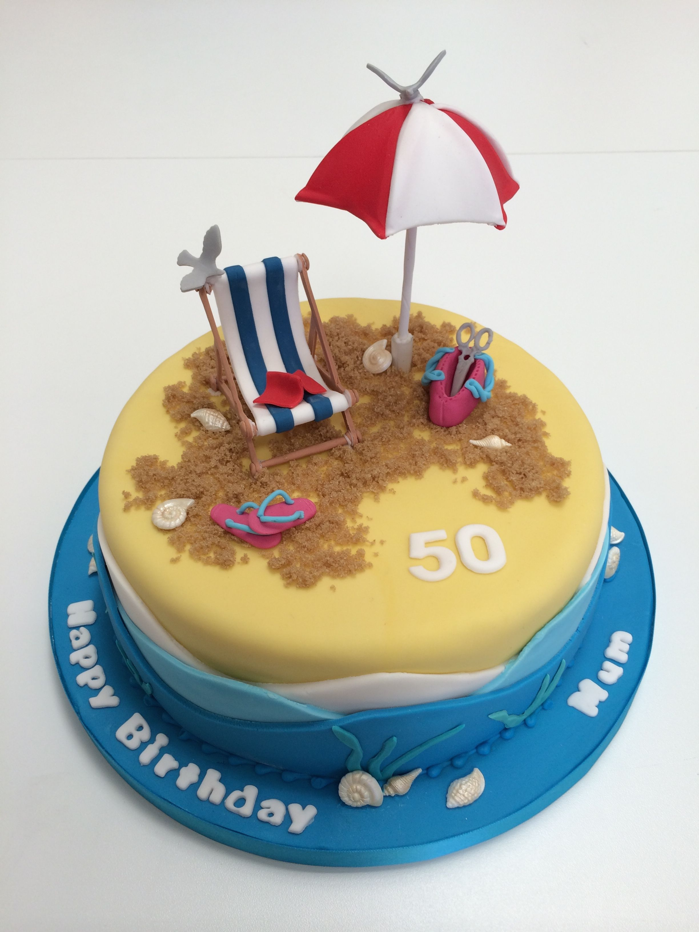 Incredible 25 Awesome Image Of Beach Themed Birthday Cakes Birijus Com Funny Birthday Cards Online Unhofree Goldxyz