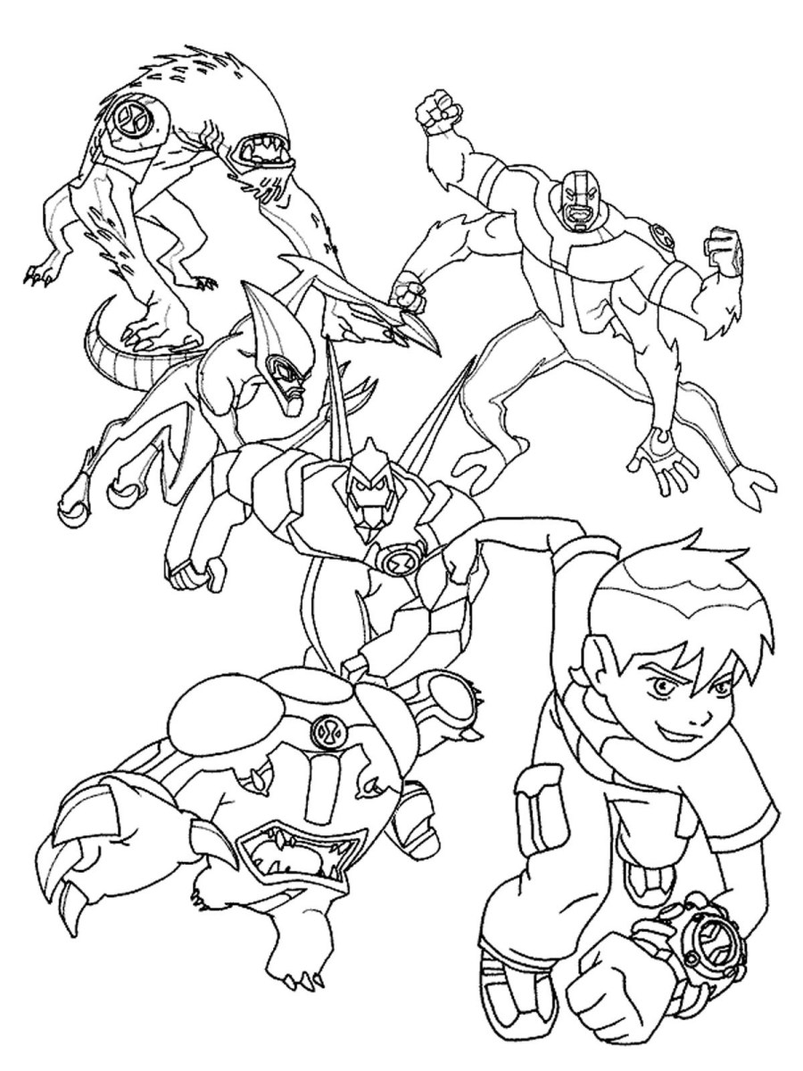 Easy Ben 10 Lodestar Coloring Pages Alien Force Lodestar Ben 10 ... | 1200x900