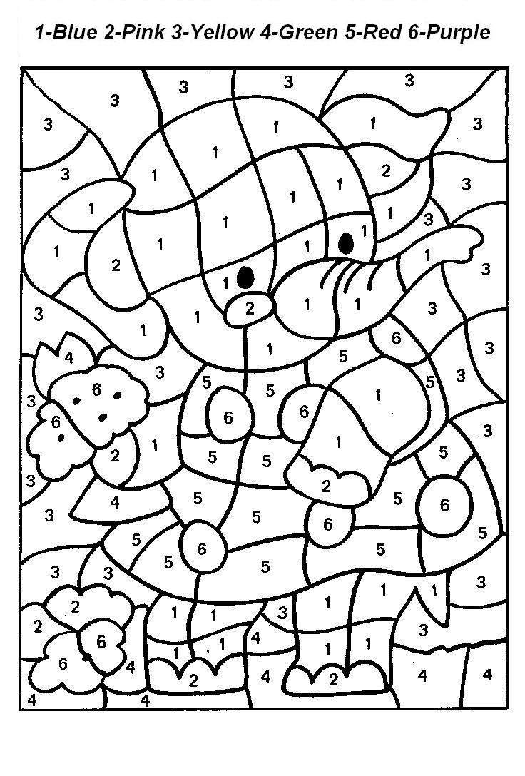 Free Printable Color by Number Coloring Pages - Best Coloring ... | 1088x736