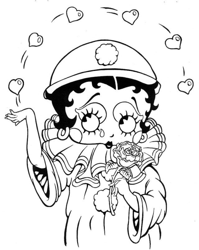 Betty Boop Coloring Pages Betty Boop To Color For Children Betty Boop Kids Coloring Pages