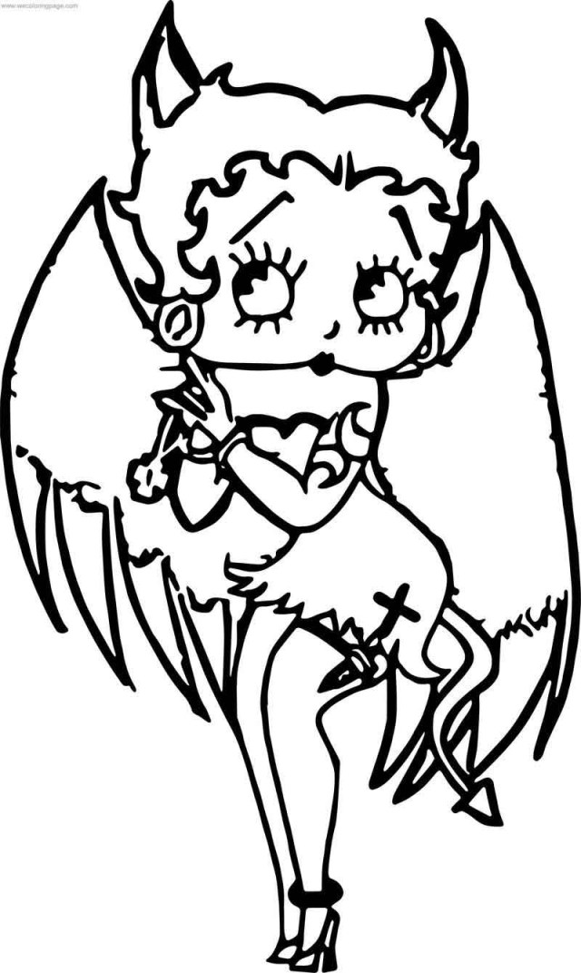 Betty Boop Coloring Pages Devil Betty Boop Coloring Page Coloring Pages For Kids To Print