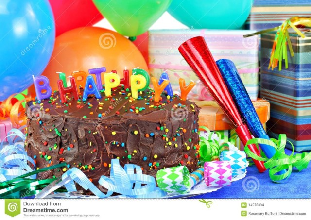 Birthday Cake And Balloons Happy Birthday Cake And Balloons Stock Images Image 14278394