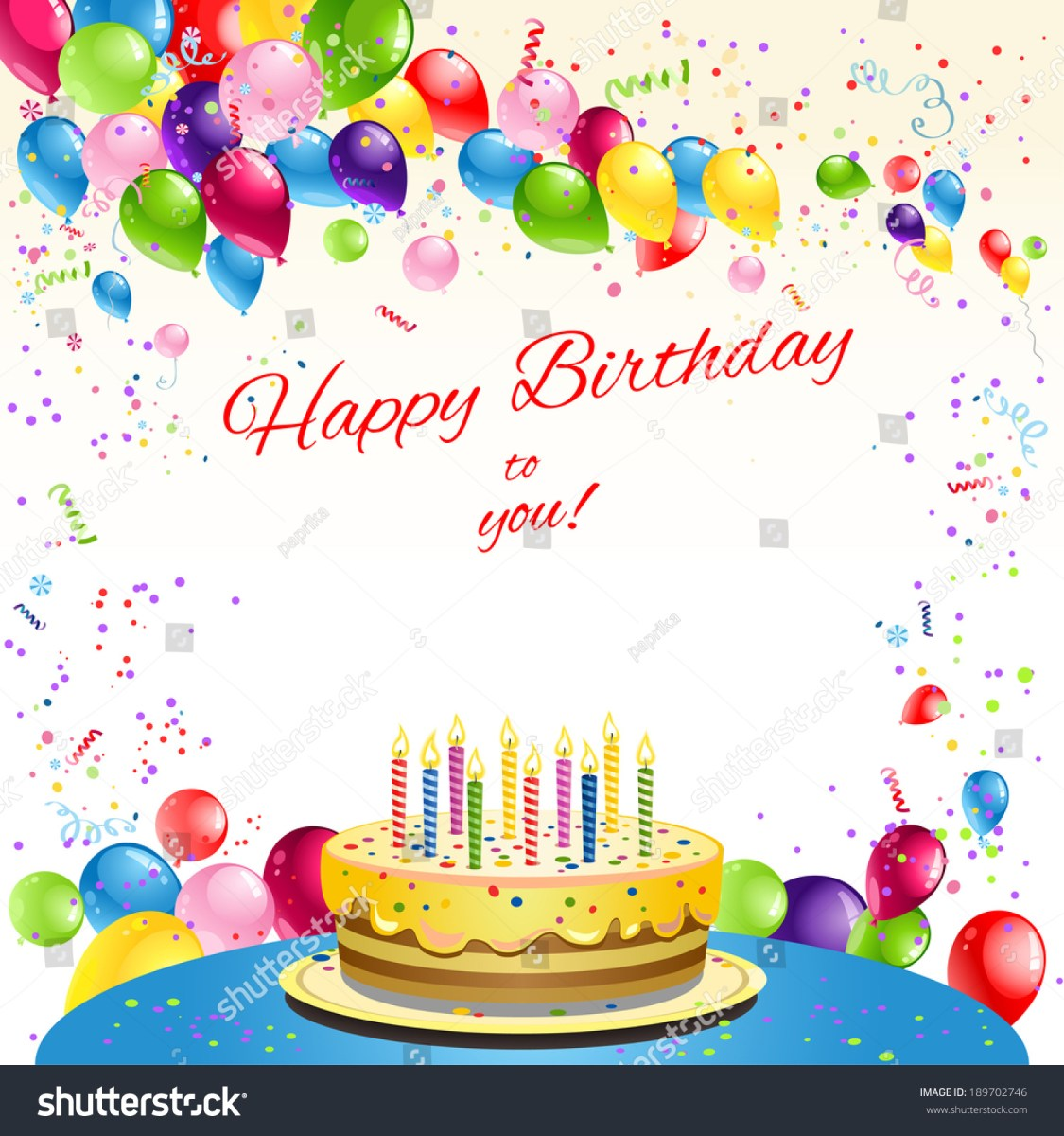 Prime Birthday Cake And Balloons Happy Birthday Card Cake Balloons Place Personalised Birthday Cards Veneteletsinfo