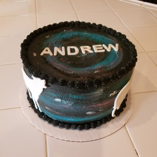 Birthday Cake For 12 Year Old Boy Buttercream Galaxy Cake Cakecentral