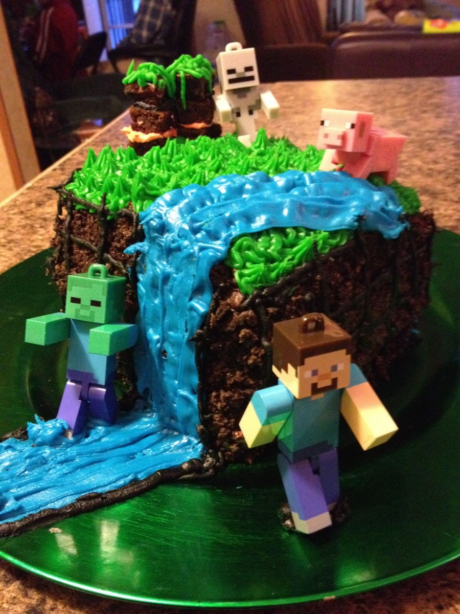 Birthday Cake For 12 Year Old Boy Minecraft Cake For My 12 Year Olds Bday Party It Is Three Layers