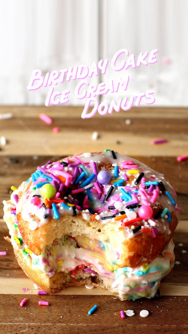 Birthday Cake Ice Cream Birthday Cake Ice Cream Donuts The Scran Line Tastemade