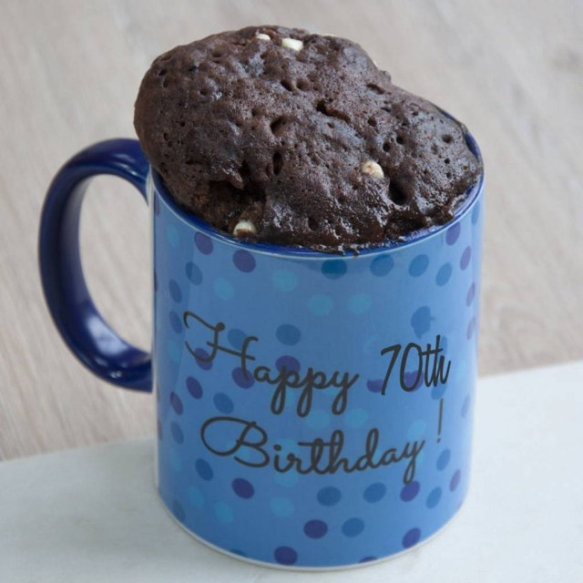 Birthday Cake In A Mug Happy 70th Birthday Cake In A Mug Gift Set Lily Grace Baking
