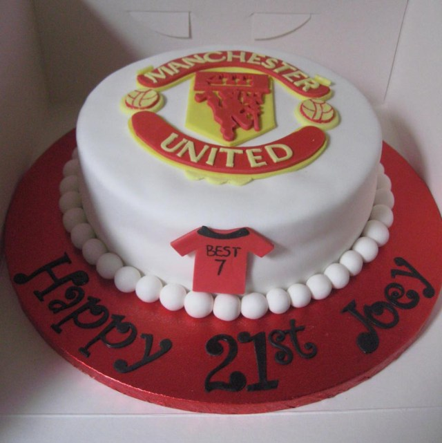 Birthday Cake Pictures For Man Man United Birthday Cake