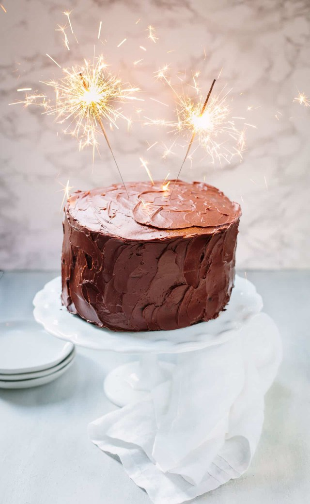 Birthday Cake Recipes For Adults Chocolate Birthday Cake With Chocolate Ganache Familystyle Food