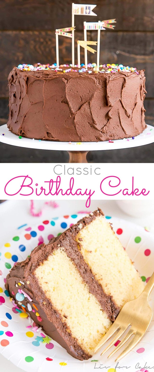 Birthday Cake Recipes For Adults Classic Birthday Cake Liv For Cake