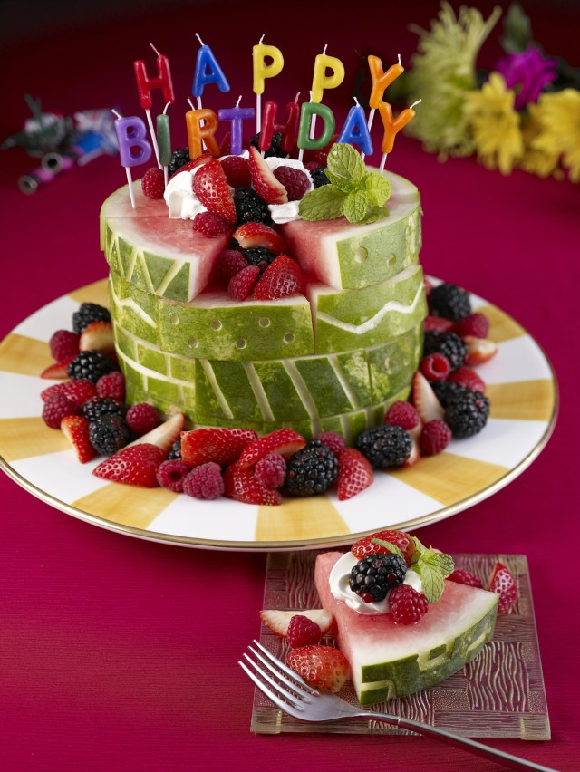 Birthday Cake With Picture Watermelon Board Birthday Cake