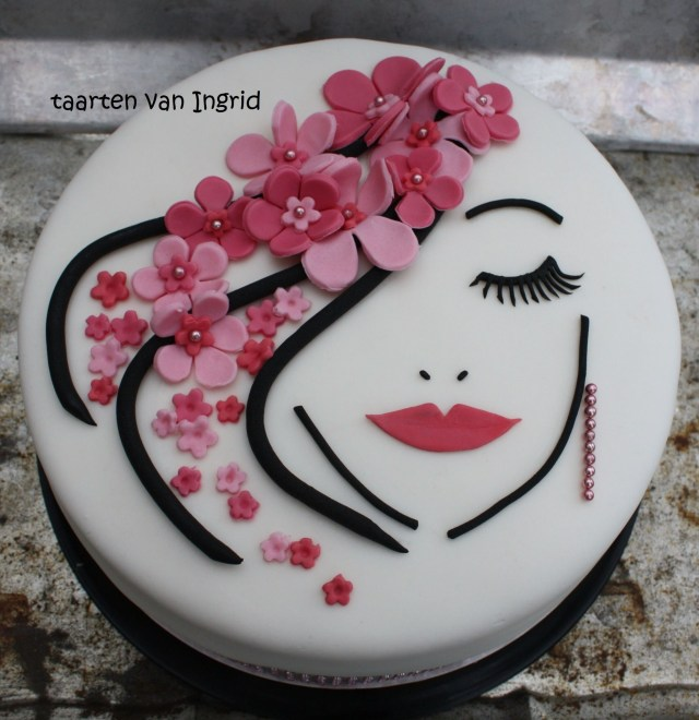 Birthday Cakes For Ladies Lady Taart Cake Art Pinterest Designs And