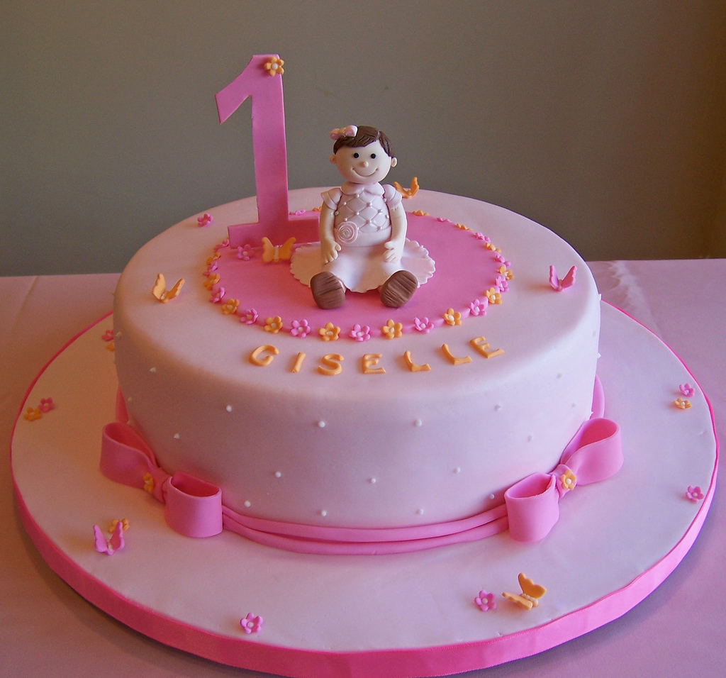 Wondrous Birthday Cakes For Little Girls First Birthday Cake Little Girl 10 Personalised Birthday Cards Veneteletsinfo