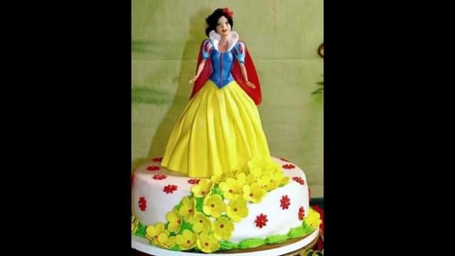Birthday Cakes For Little Girls Snow Princess Birthday Cake For A Sweet Little Girls Youtube