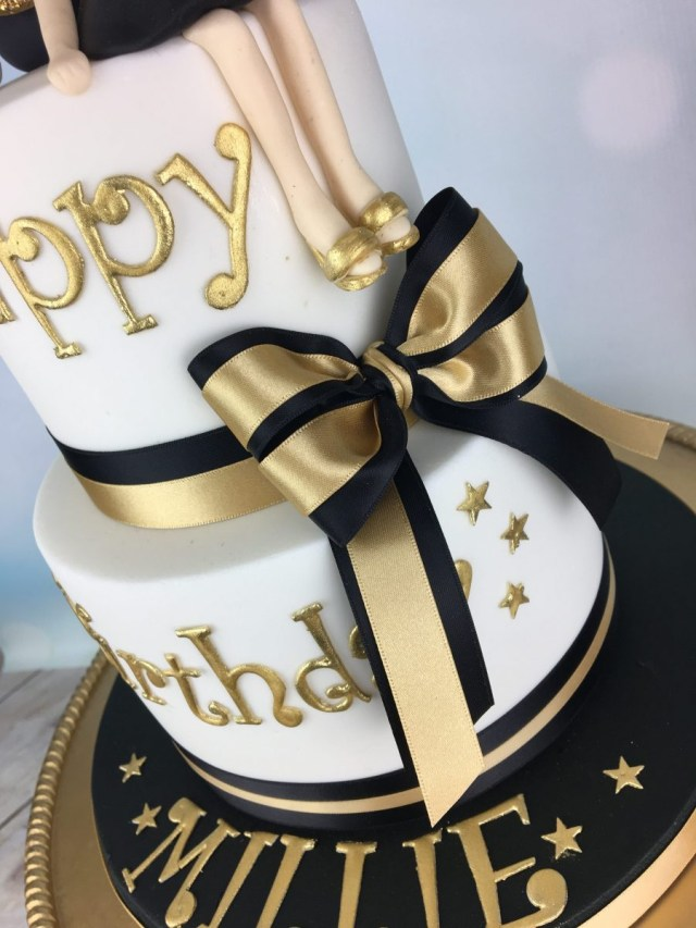 25 Great Picture Of Black And Gold Birthday Cake Birijus Com